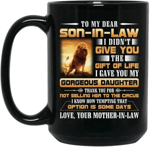 Lion To My Dear Son In Law Mug Funny Birthday Ceramic Coffee Mug Gift Men Women