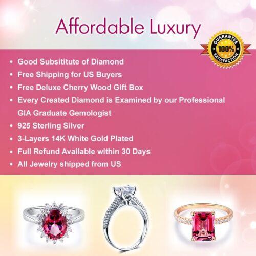 6 Carat Lab Created Diamond 925 Sterling Silver Ring Wedding Bridal Engagement
