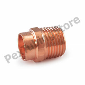 1-2-034-C-x-1-2-034-Male-NPT-Threaded-Copper-Adapter