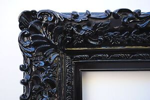 image is loading wide ornate antique black lacquered floral baroque picture