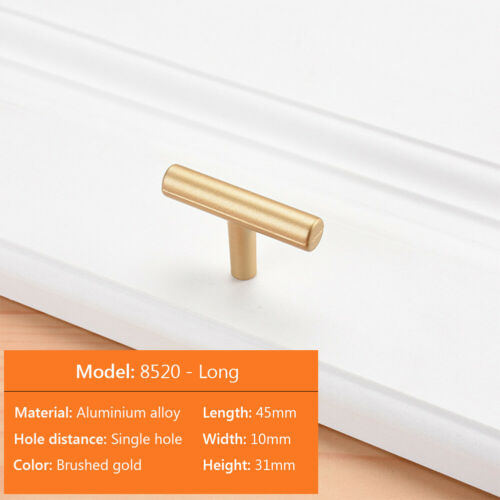 Solid Stainless Steel Kitchen Cabinet Drawer Door Handles T Pull Bar Hardware E