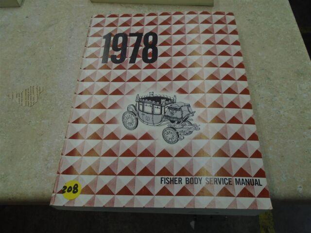1984 Fisher Body Service Manual A-X J Styles shop repair oem factory REPAIR