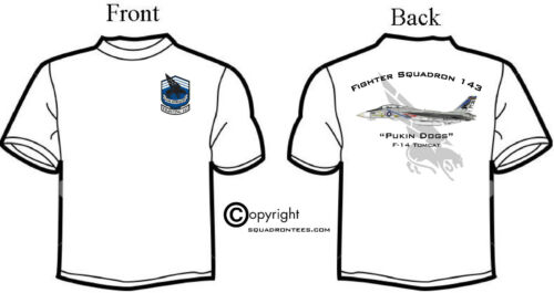 Short or Long Sleeves VF-143 Pukin Dogs F-14 Tomcat Fighter Squadron T-Shirt
