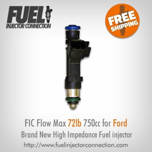 Brand new FIC Flow Max 72lb 750cc High Performance Fuel Injector for Ford