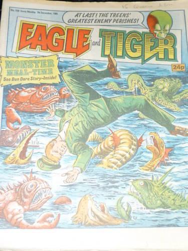 EAGLE /& TIGER Comic UK Paper Comic No 194 Date 07//12//1985