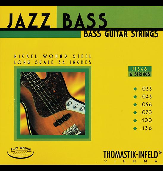 Thomastik-Infeld JF346 T-I Jazz Flatwound Bass Guitar Strings - Long Scale - 6-S