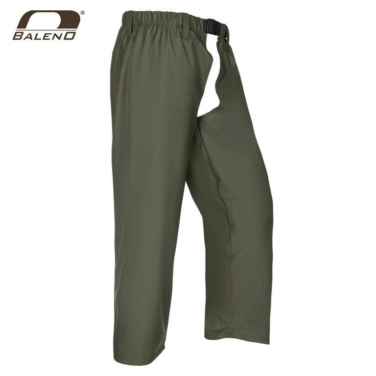 BALENO Beinlinge Forest Khaki Größe L Flexothane ® Olive Unisex Rain Trousers