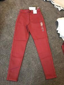 Free P M Skinny 8 Soft 21082856 Super p Short Jeans Sameday Bnwt Taglia Rise S Spice High 7fSqSW6n