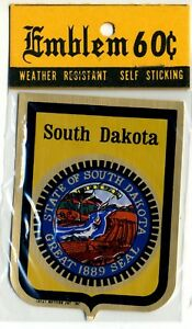Details about Vtg Travel Decal Sticker Gold Mylar NOS South Dakota Great  Western Ent