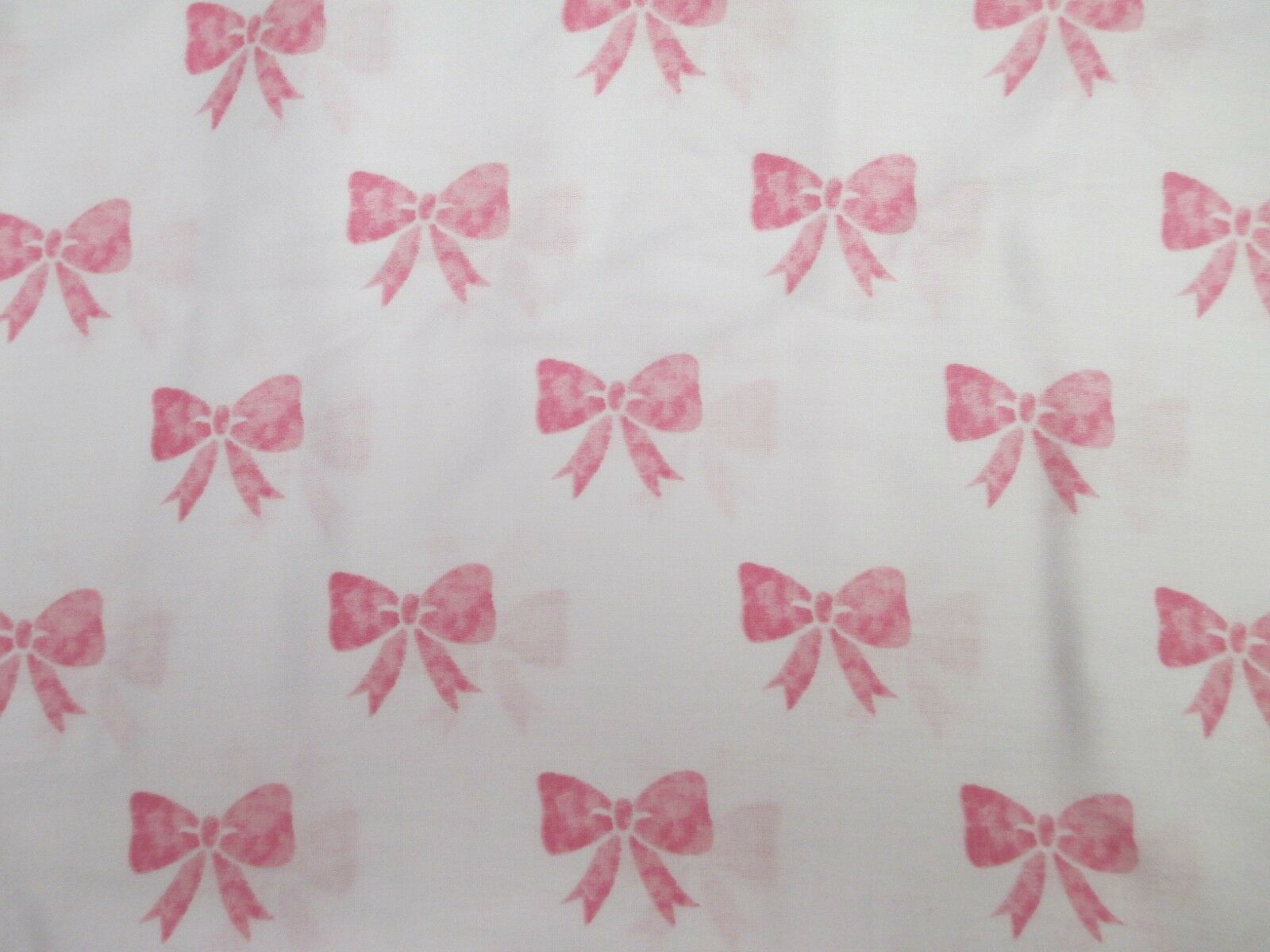 New Adorbs Kids Girls 100% Cotton White Pink Bow Sheet Set - Twin