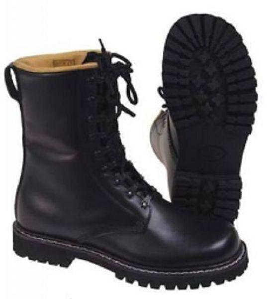 Armée Bw botas de Combat plein Cuir botas negro Pleine Cuir negro botas 41