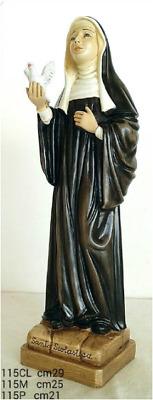 statua in resina e polvere di marmo 21 h SANTA SCOLASTICA cm