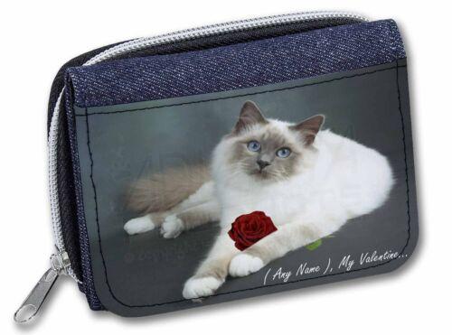 Personalised (Any Name) Girls/Ladies Denim Purse Wallet Christmas Gif, VAC-85RJW