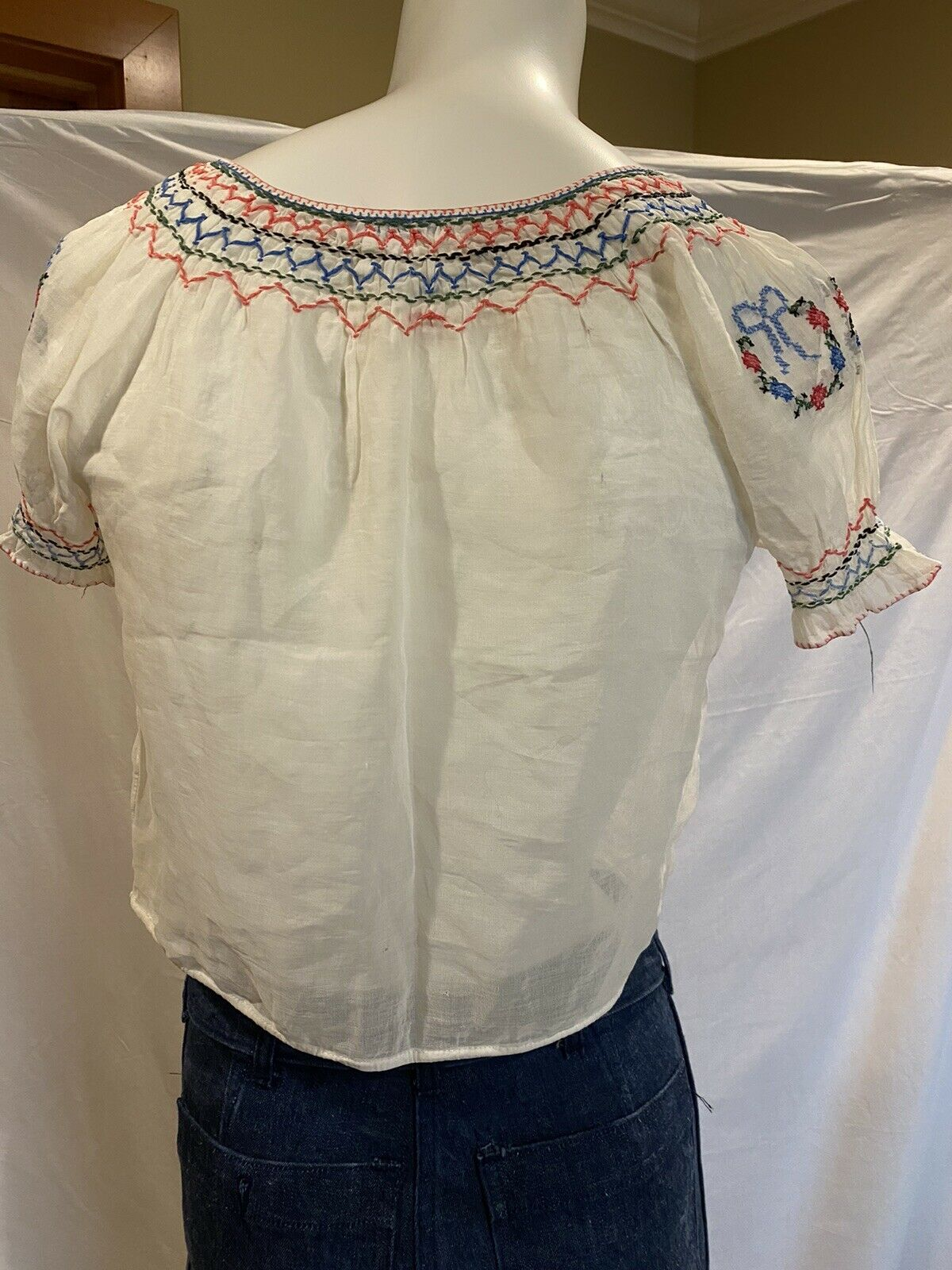 Vintage Antique 1920s Embroidered Hungarian Peasa… - image 6
