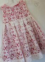 Baby Gap Girl's Ivory Lace Dress W/ Pink Satin Liner
