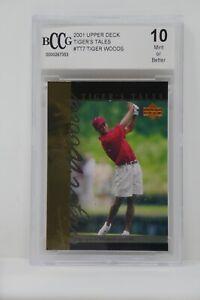 2001 Upper Deck Tiger's Tales #TT7 Tiger Woods Rookie BCCG 10 MINT OR BETTER