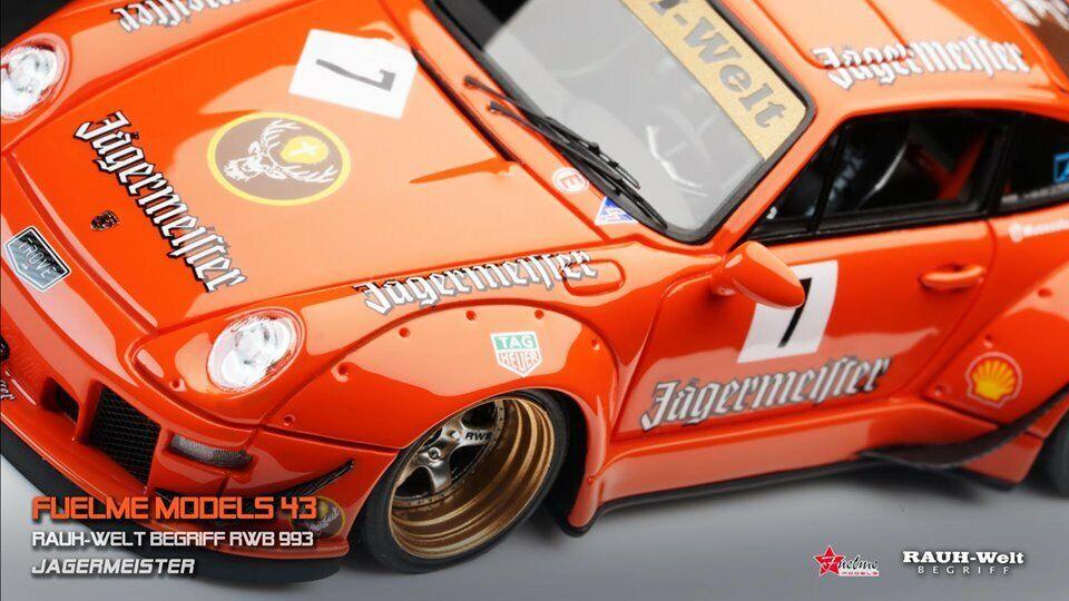 1 43 FUELME PORSCHE 911 (993) RWB  Jaegermeister  pearl arancia L.E. 200 pcs. NEW