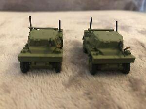 Two-1-76-20mm-Oxford-Diecast-British-Daimler-Dingo-repainted-Bren-added