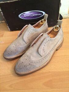 Suede Leather Brogue Shoe Uk