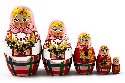 Matryoshka Russian Nesting Dolls Babushka Matrioshka Babouska Nutcracker 5 Pcs