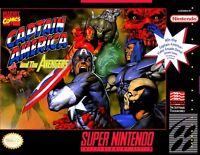 Super Nintendo Snes Captain America Avengers Box Cover Photo Wall Poster Decor