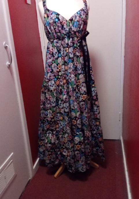 Sugar Skull Maxi dress Größe 14-30
