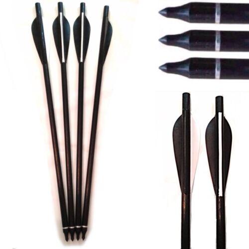 """10 x 17/"""" nero in fibra di vetro ON//OFF Tiro Con L/'arco Freccia Balestra Bulloni Trapassato"""