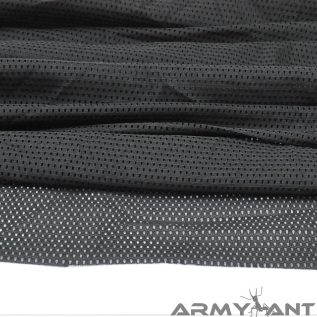 """100-Yards Black SWAT Army Military Tactical Airsoft 60""""W Mesh Fabric Cloth"""