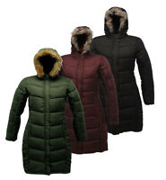 Ladies Regatta Long Insulated Blissfull II Padded Knee Length Jacket/Coat