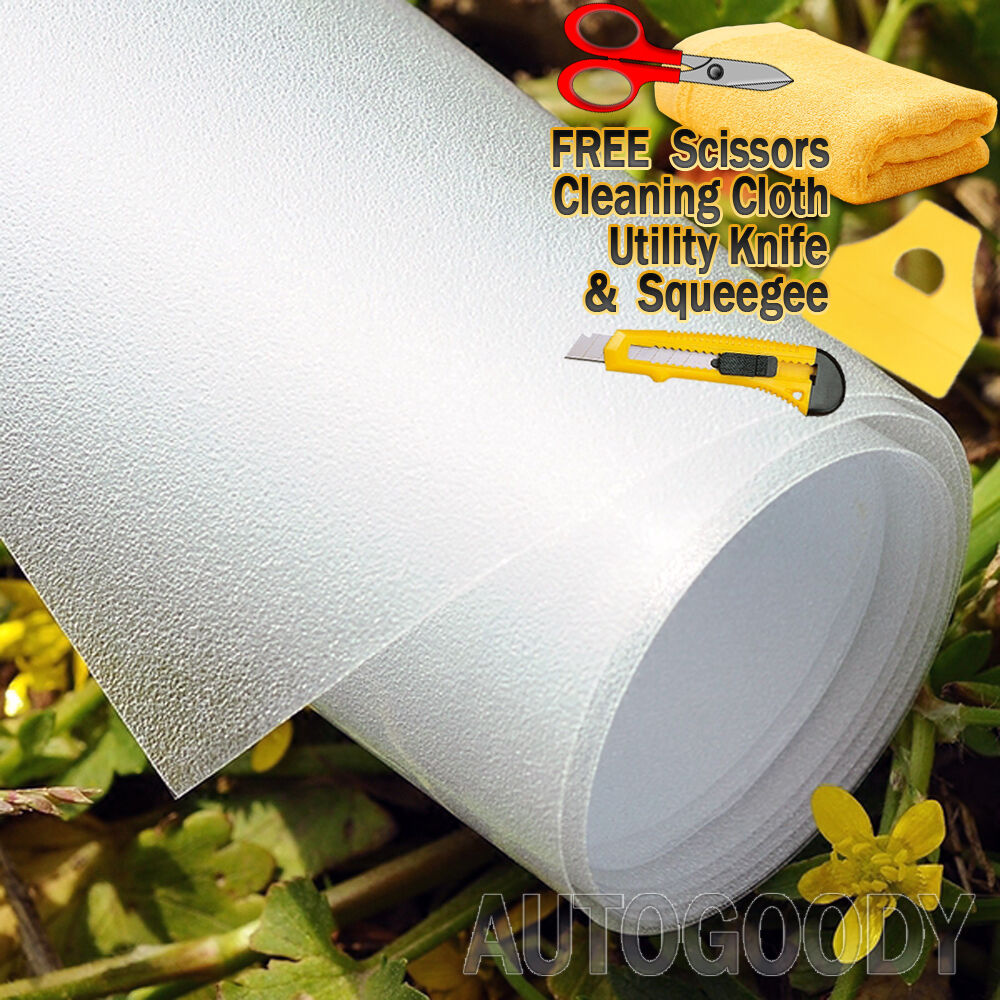 """White 36/"""" x 48/"""" Dot Matrix Static Cling Perforated Graphic Window Film"""