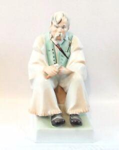 Vintage-Hungarian-Porcelain-Figure-Zsolnay-Pecs-Man-Pasztor-Shepherd-Hungary
