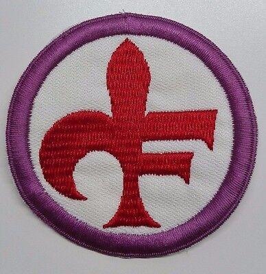 #a# Patch Fiorentina D.62 Mm Ricamata Ufficiale Anni 80 Tieniti In Forma Per Tutto Il Tempo