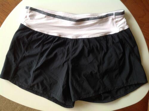 Lululemon Shorts Size 4 Black Light Pink Waist Ban
