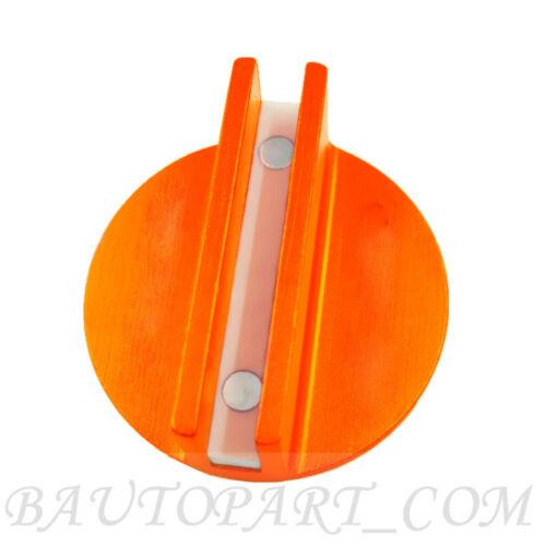 Universal Magnetic Floor Jack Pad Adapter Pinch Frame Rail Orange