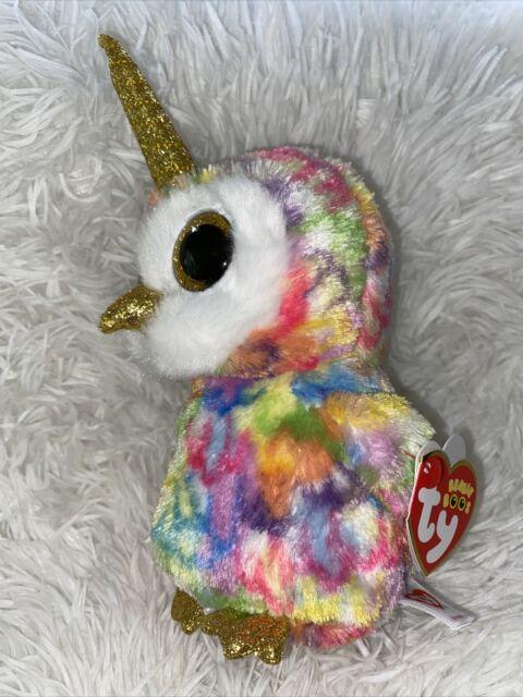 "TY Beanie Boos 6"" ENCHANTED Unicorn Owl w/ Horn Plush Stuffed Animal Toy MWMTs"