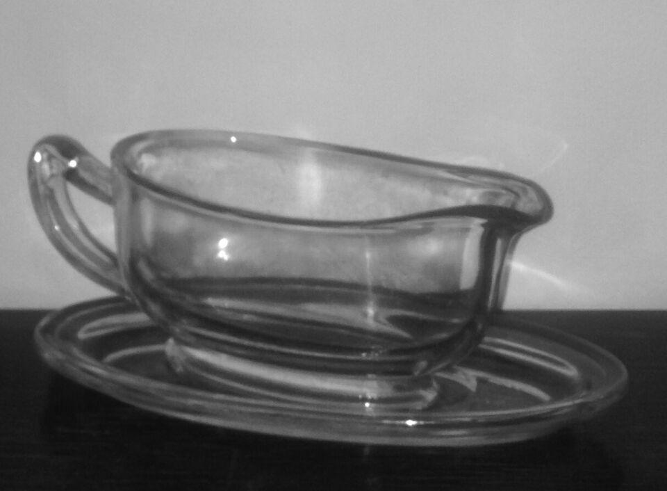 Glas, Vintage Kande med Underskål, Pyrex