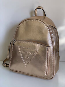 NEW-GUESS-BALDWIN-PARK-COLLECTION-ROSE-GOLD-TRAVEL-BACKPACK-BAG-PURSE-SALE