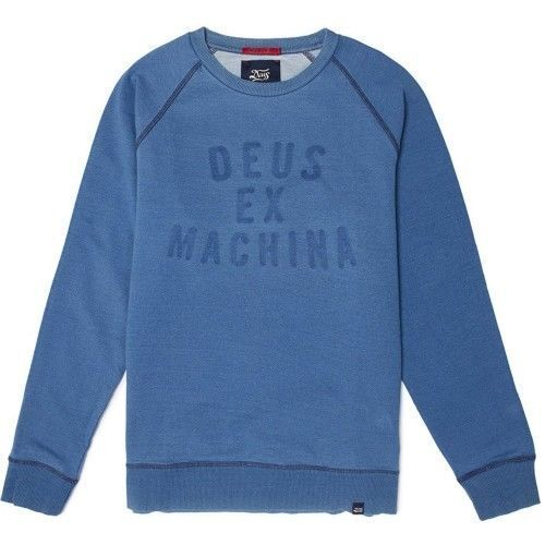 DEUS INDIGO CREW LIGHT INDIGO LARGE BNWT