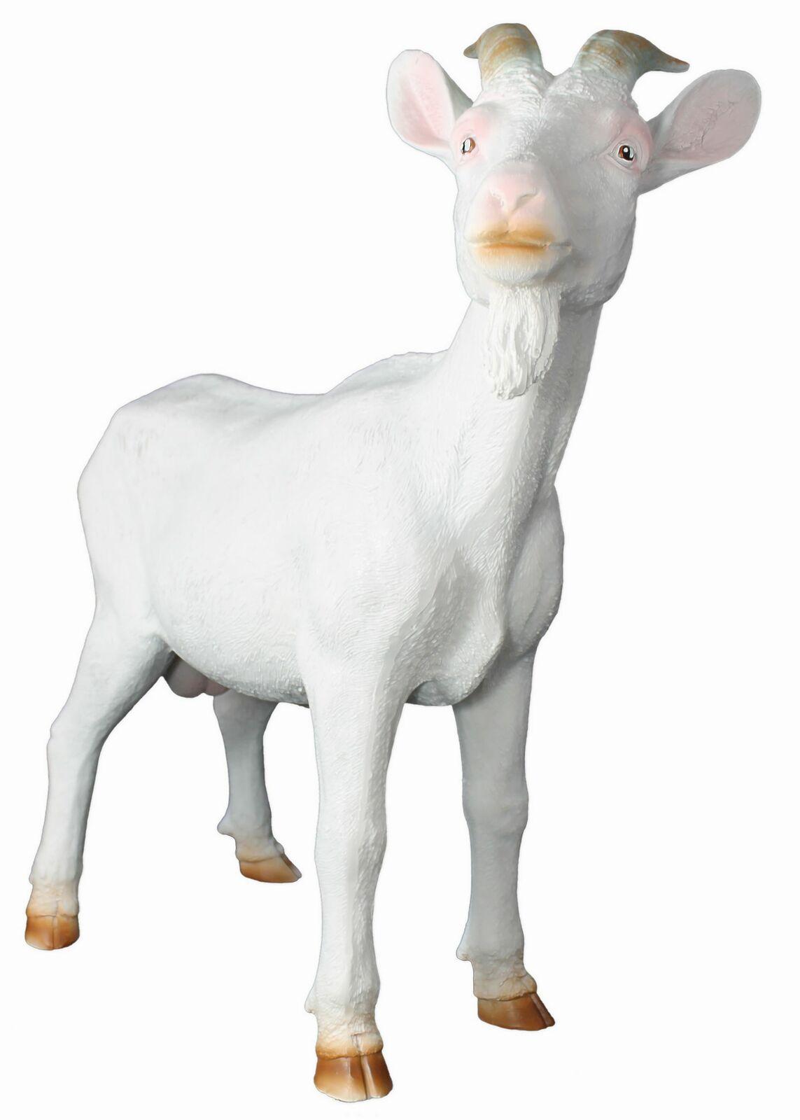 El látigo figura el látigo  Bruce  blancoo jardín personaje animal personaje cabra dekofigur
