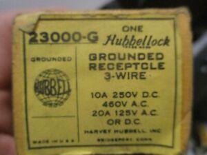 (A) Hubbellock Hbl23000g 20/10A Locking Receptacle  3W 125Vac/Dc 250Vdc 460Vac