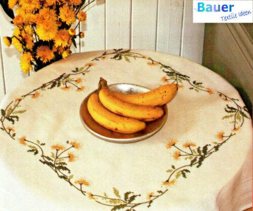Stick envase manta 80x80 cm flores amarillas floral 1249 punto de cruz bordar