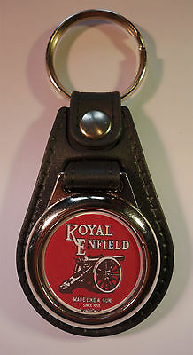 Relieving Heat And Thirst. Contemplative Royal Enfield Faux Leather Key Ring Key Fob.classic Royal Enfield Motorcycles