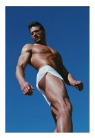 Last One Rufskin Pluton Men's Wet Look Nylon Onion Skin Shorts White