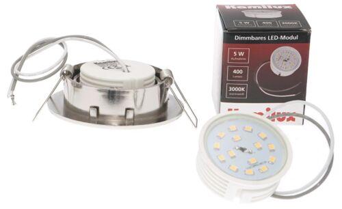 DEL installation projecteur Tom ultra plat Deckenspot Inoxydable Blanc Chaud Neutralweiß 80ra