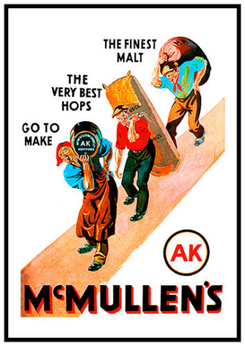 Vintage British Beer advert Reproduction poster McMullens Wall art.