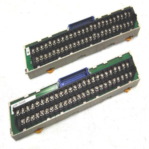 Lot of 2 Yaskawa JUSP-TA50P Connector Board Terminal Block Panels