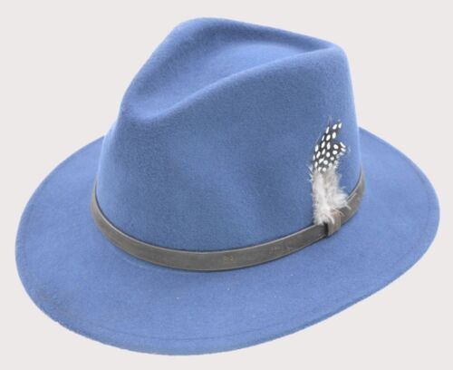 Unisex Fedora Hat Long Brim Supreme Quality Felt Indiana Jones iHATS London UK