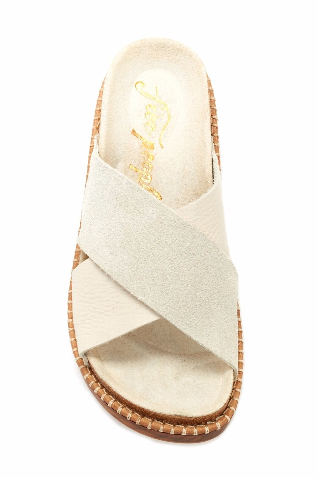 Free People Women's Brickell Brickell Brickell Brickel Footbed Sandal Suede Leather Sz 36 US 6.5 dbeb8f