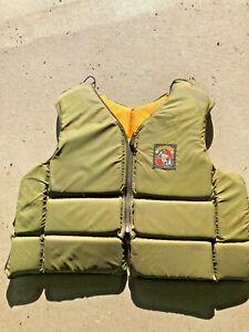 BS5-Vintage-RARE-Stearns-Life-jacket-preserver-floatation-Sans-Souci-Hunter