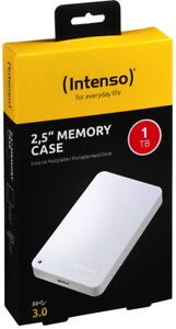 Intenso HDD externe Festplatte Memory Case 2,5 Zoll 1TB USB 3.0 weiß